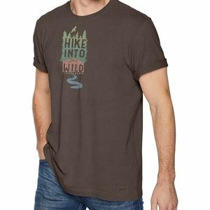 Life is Good Men's Crusher tee Hike Into The Wild